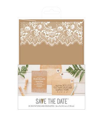 American Crafts Rustic Wedding Invites & Envelopes