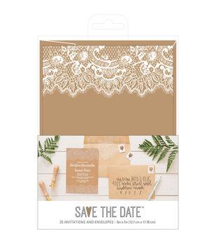 Wedding stationery invitations joann american crafts rustic wedding invites envelopes solutioingenieria Images