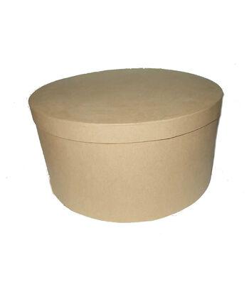 Paper Mache 12'' Hat Box-Round
