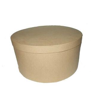 Round Paper Mache Hat Box 12''