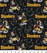 Pittsburgh Steelers Cotton Fabric-Mickey Mouses, , hi-res