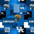 University of Kentucky Wildcats Cotton Fabric -Modern Block