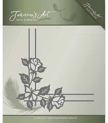 Find It Trading Jeanine's Art with Sympathy Cutting Die-Rose Corner