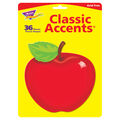 Shiny Red Apple Classic Accents, 36 Per Pack, 6 Packs