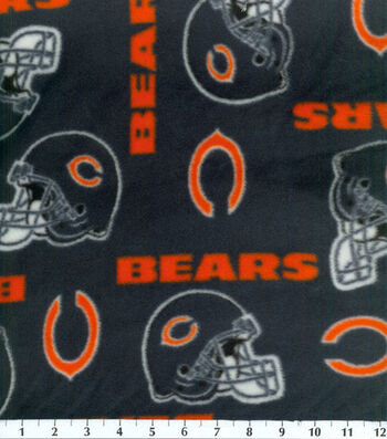 Chicago Bears Fleece Fabric -Tossed