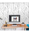WallPopsNuWallpaper Gray Woods Peel And Stick Wallpaper