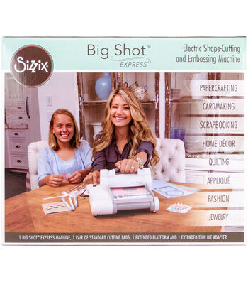 Sizzix Big Shot Express Machine-White & Gray
