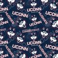 University of Conneticut Huskies Cotton Fabric-Tone on Tone