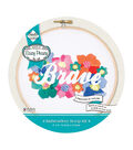 Needle Creations Easy Peazy Reverse Stamped Embroidery Hoop Kit-Brave