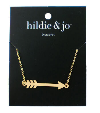 hildie & jo 8'' Metal Arrow Bracelet-Gold
