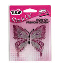 Tulip Glam-It-Up! Iron-On-Pink Butterfly/Small