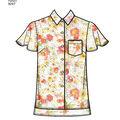 Simplicity Pattern 8297 Misses\u0027 Shirts-Size R5 (14-16-18-20-22)