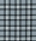 Snuggle Flannel Fabric -Hadley Gray & Black Plaid