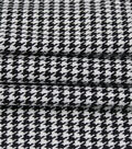 Check It Stretch Suiting Fabric 57\u0022-Houndstooth Black & White