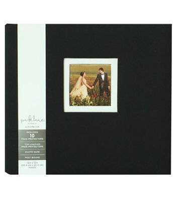 Park Lane 12''x12'' Scrapbook Album with Frame-Black