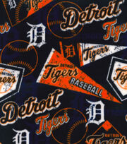 Detroit Tigers Fleece Fabric -Vintage, , hi-res