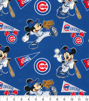 Chicago Cubs Cotton Fabric-Mickey, , hi-res