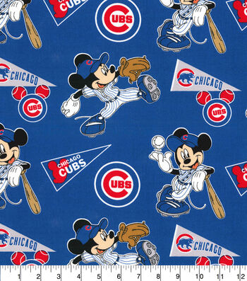 Chicago Cubs Cotton Fabric-Mickey