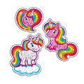 Sparkly Unicorns Sparkle Stickers-Large 6 Packs