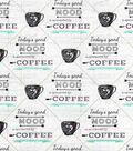 Novelty Cotton Fabric-Good Mood Coffee