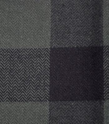 Shirting Cotton Fabric -Green & Black Buffalo Check