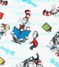 Dr. Seuss Cotton Fabric 44\u0022-Kids & Cat Reading
