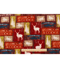 Anti-Pill Fleece Fabric 59\u0022-Bear Lodge Patch