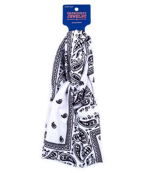 hildie & jo Patriotic Jewelry Bandana Headwrap-White
