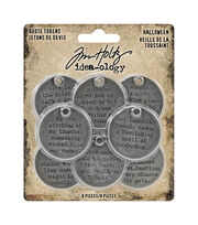 Tim Holtz Idea-ology Halloween-Quote Tokens, , hi-res