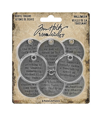 Tim Holtz Idea-ology Halloween-Quote Tokens