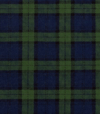 "Snuggle Flannel Fabric 42""-Blackwatch Plaid"