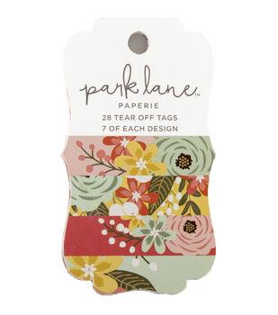 Park Lane Paperie 28 pk Tear off Tags-Floral