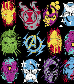 Marvel Avengers Fleece Fabric-Hero Stare