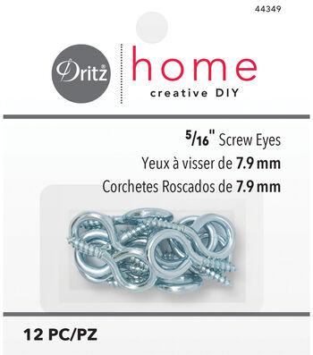 "Dritz Home 0.31"" Screw Eyes 12pcs"