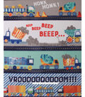 No Sew Fleece Throw-Beep Honk Vroom
