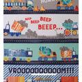 No Sew Fleece Throw Kit-Beep Honk Vroom