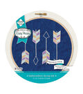 Needle Creations Embroidery Kit 6\u0022-Arrows Stamped On Denim Canvas