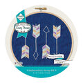 Needle Creations Embroidery Canvas Hoop Kit-Arrow Stamps on Denim