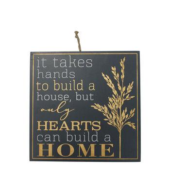 Simply Autumn Wall Decor-Hearts Build Homes on Navy