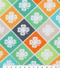 4-H Cotton Fabric-Multi Emblem Bias