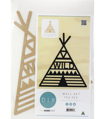 "Beyond The Page MDF Teepee Wall Art-12.75""X16.5"""