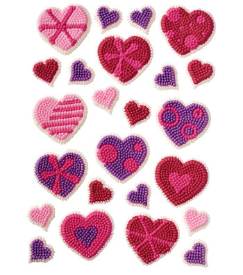 Wilton Icing Decs 24/Pkg-Patterned Hearts