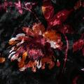 Stretch Panne Velour Fabric 58\u0022-Black Wispy Floral