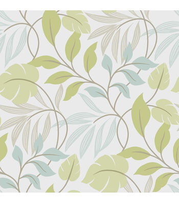 WallPops NuWallpaper Blue and Green Meadow Peel And Stick Wallpaper