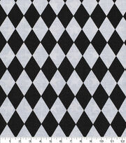Keepsake Calico Cotton Fabric -Black & White Diamond, , hi-res