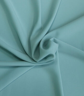 "Silky Solid Stretch Crepe Fabric 58""-Light Blue"