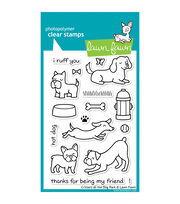 "Lawn Fawn Clear Stamps 4""X6""-Critters At The Dog Park, , hi-res"