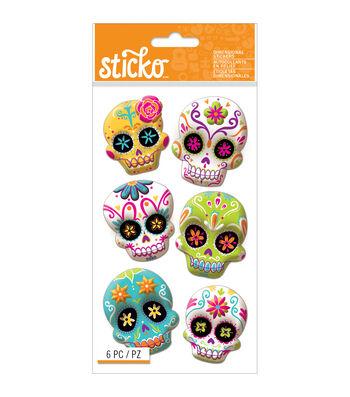 Sticko Halloween Stickers-Sugar Skull