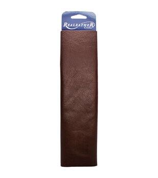 "Realeather Crafts Leather Premium Trim Piece 8.5""x11""-Brown"