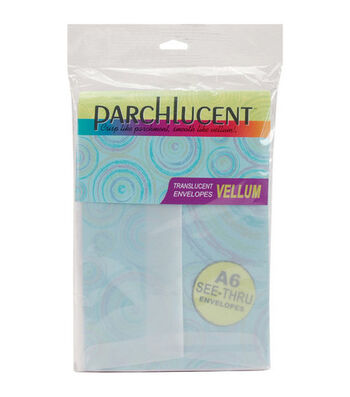 "A6 4-3/4""x6-1/2"" Vellum Envelopes-25PK/Clear"